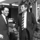 WASHINGTON, DC - MAY 15: This undated file photo shows actor and singer Frank Sinatra (L) with former US President John F. Kennedy. Frank Sinatra died 14 May in Los Angeles at the age of 82. AFP PHOTO (Photo credit should read AFP/AFP/Getty Images)