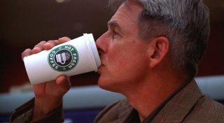 Leroy Jethro Gibbs drinking Coffee