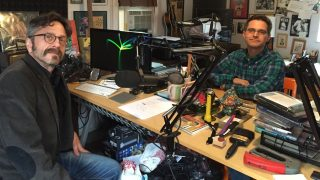 Marc Maron and Brendan McDonald in Studio
