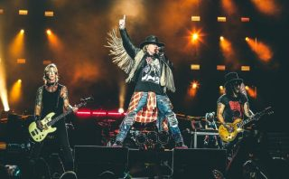 Duff, Axl, and Slash together again