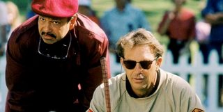 Romeo and Roy reading the green - Tin Cup
