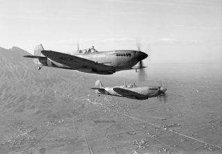 Two WWII Supermarine Spitfires