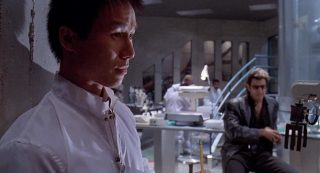 Dr Wu and Dr Malcolm in Jurassic Park