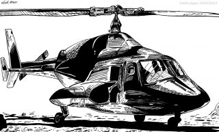 Airwolf (Ink) by Keith Meyer Art