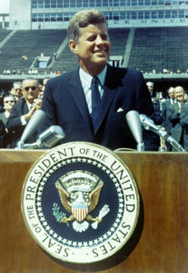 Kennedy at Rice University from NASA Archive