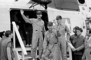 Apollo 13 after Splashdown