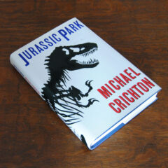 Jurassic Park hard cover book