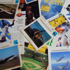 Sports Pages and Aviaation cards represent the needless stuff of a meandering generation