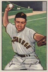 Joe Garagiola Pirates baseball card